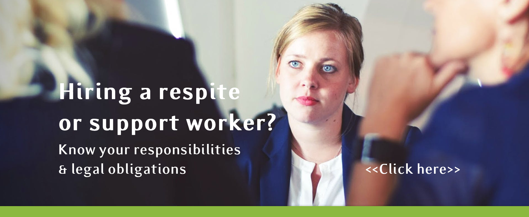 Hiring a support or respite worker